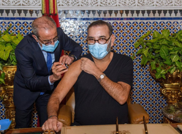 Morocco's king kicks off COVID vaccination drive