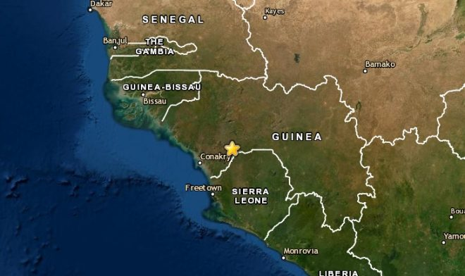 Rare 5.0-quake jolts Guinea in West Africa