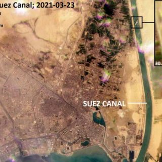 Stuck container ship blocks Suez Canal