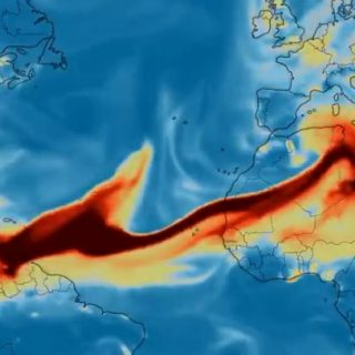Volcanic emissions from La Soufrière reach African continent