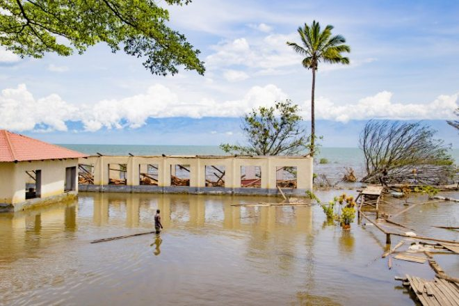 Burundi villages inundated by water rise on Lake Tanganyika